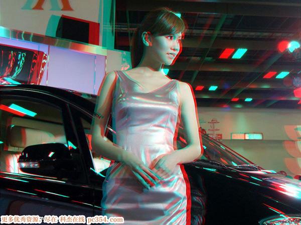红蓝3d眼镜测试演示3d图片 美女篇
