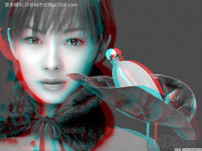 红蓝3d眼镜测试演示3d图片及美女3d视频 美女篇2013