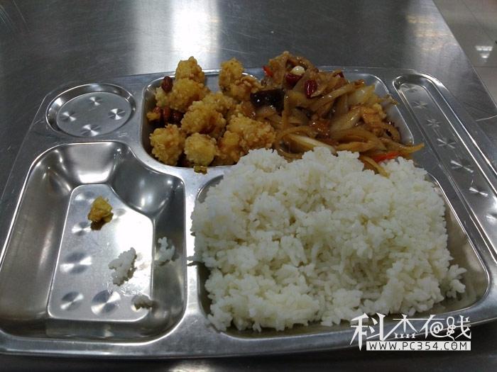 武警总医院的食堂饭菜图